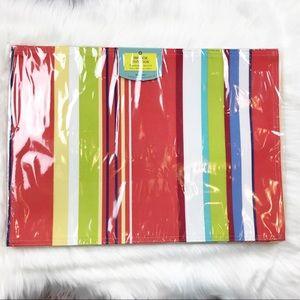 Set Of 4 Indoor/Outdoor Cabana Stripe Placemats